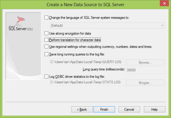 Create a New Data Source to SQL Server