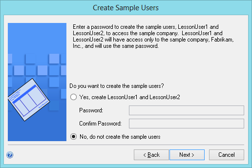 Create Sample Users