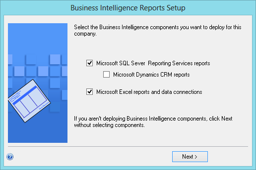 Business Integlligence Reports Setup