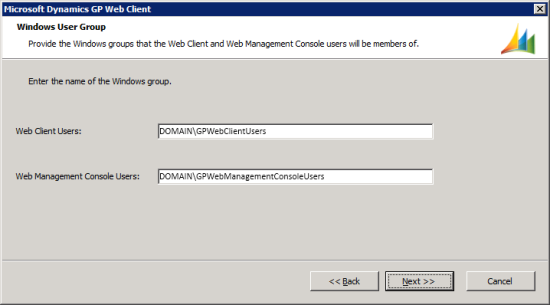Microsoft Dynamics GP Web Client setup utility - Windows User Group