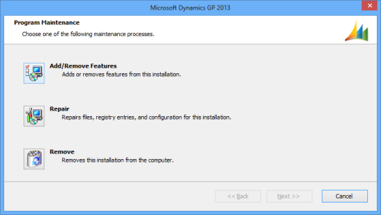 Microsoft Dynamics GP 2013 - Program Maintenance