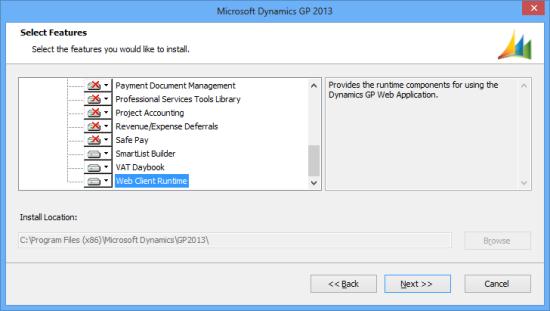 Microsoft Dynamics GP 2013 - Select Features