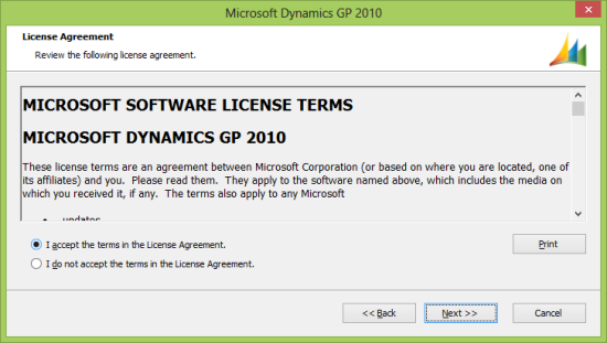 Microsoft Dynamics GP 2010 - License Agreement