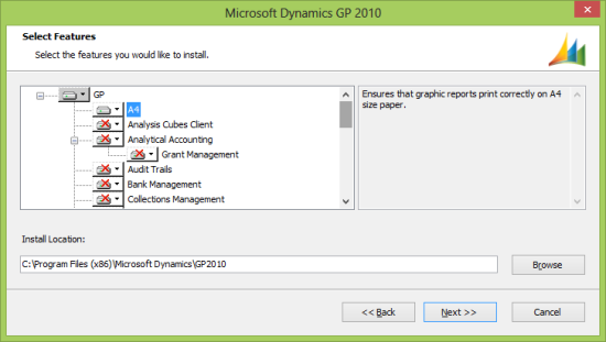 Microsoft Dynamics GP 2010 - Select Features