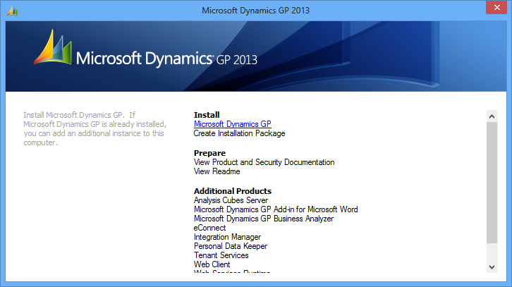 How To Install Microsoft Dynamics Gp 2013 Beta Client