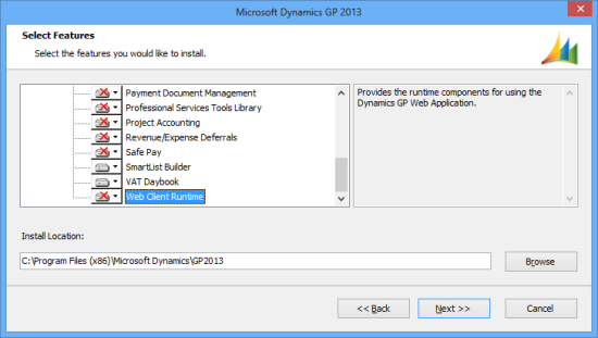 Microsoft Dynamics GP 2013 - Select Features
