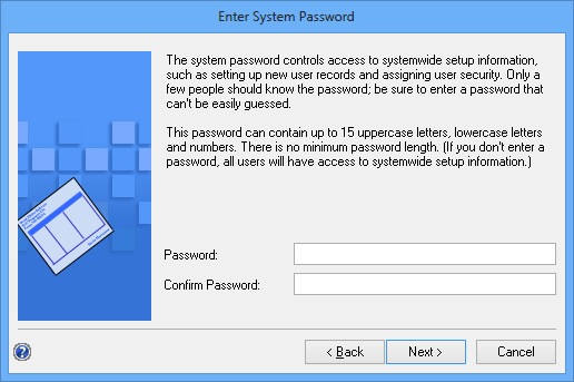 Enter System Password