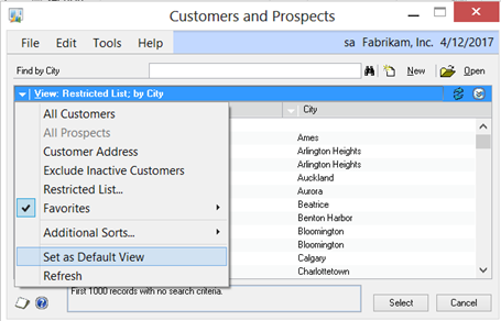 Customers and Prospects Lookup