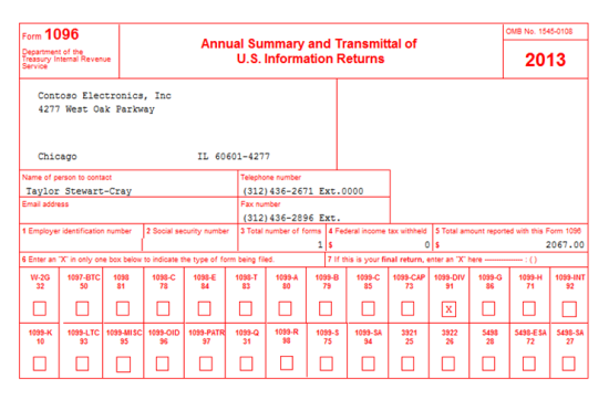MDGP 2013 Feature of the Day: Printing 1096 Forms - Microsoft ...