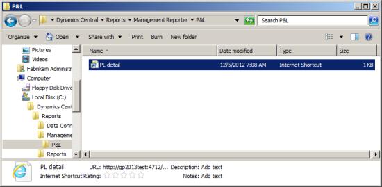 Windows Explorer - P&L