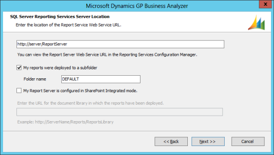 SQL Server Reporting Services Server Location