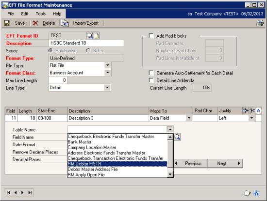 EFT File Format