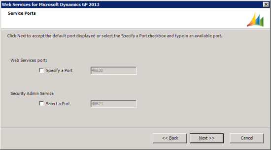 Web Services for Microsoft Dynamics GP 2013 - Service Ports