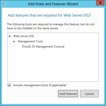 Add Roles and Features Wizard