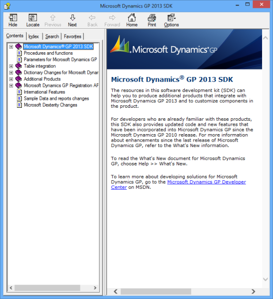 Microsoft Dynamics GP 2013 SDK