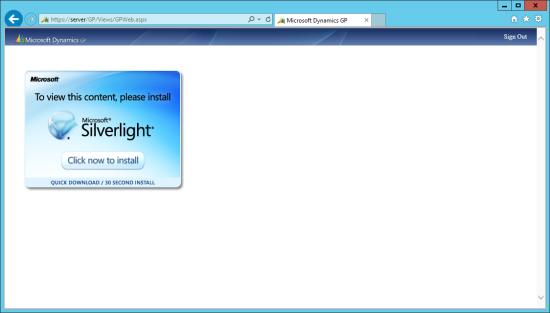 IE - Silverlight Install Needed
