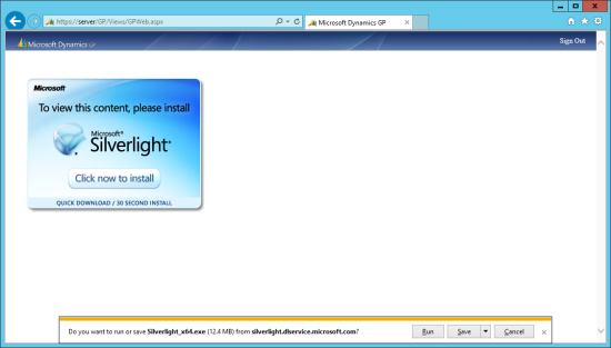 IE - Do you want to run or save Silverlight (12.4MB) fromm silverlight.dlservice.microsoft.com