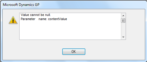 Value cannot be null. Parameter  name: contentValue