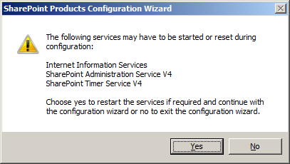 SharePoint Products Configuration Wizard
