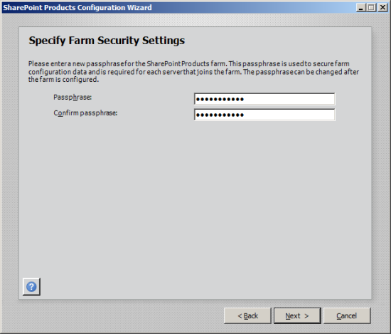Specify Farm Security Settings
