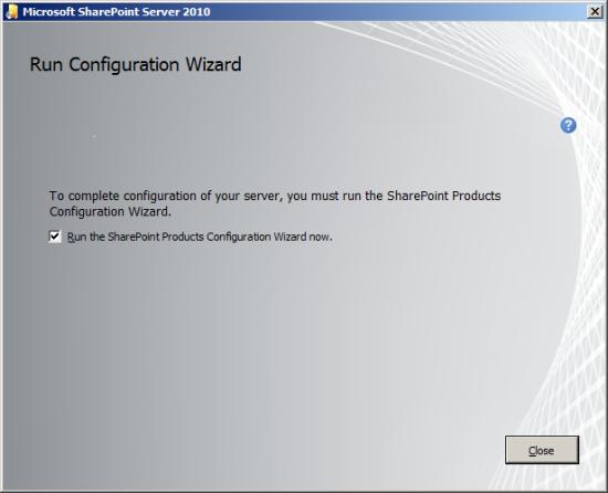 Run Configuration Wizard