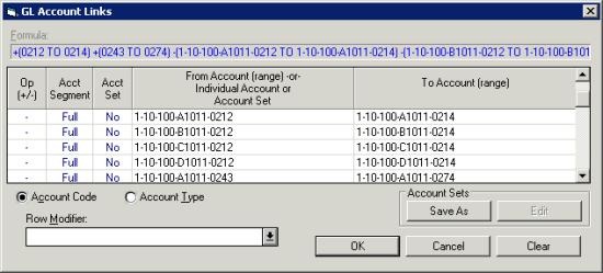 GL Account Links