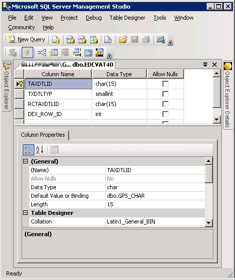 Collation conflict printing the tax detail report - How to find a table in sql server management studio ...