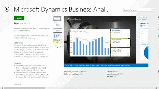 Windows 8 App Store - Business Analyzer