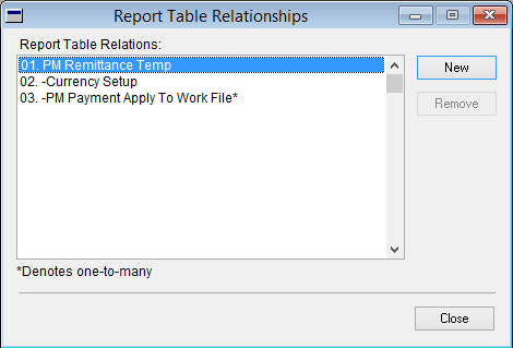 Report Table Relationships