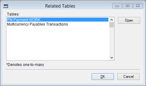 Related Tables