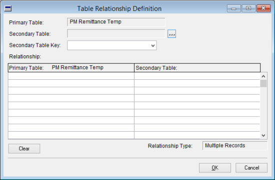 Table Relationship Definition