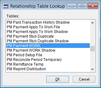Relationship Table Lookup