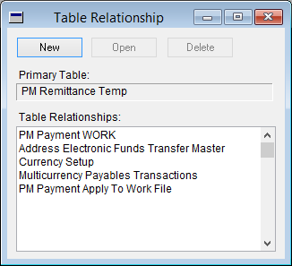 Table Relationship