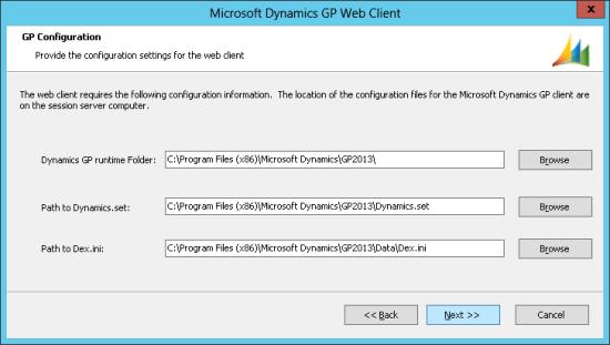 Microsoft Dynamics GP Web Client - GP Configuration