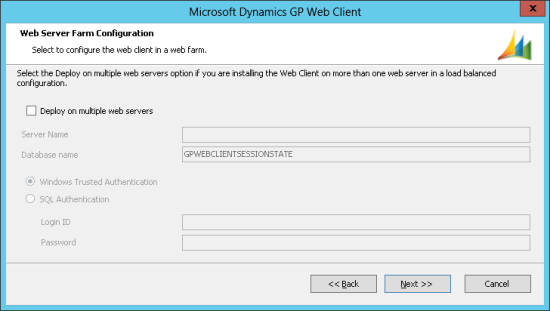 Microsoft Dynamics GP Web Client - Web Server Farm Configuration