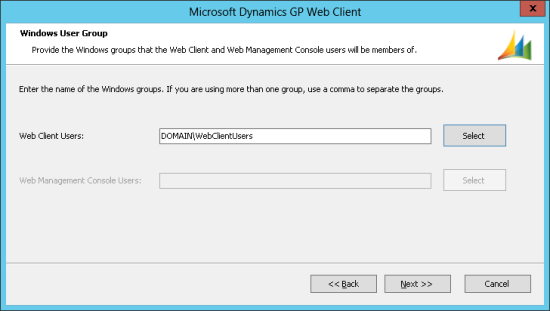Microsoft Dynamics GP Web Client - Windows User Group