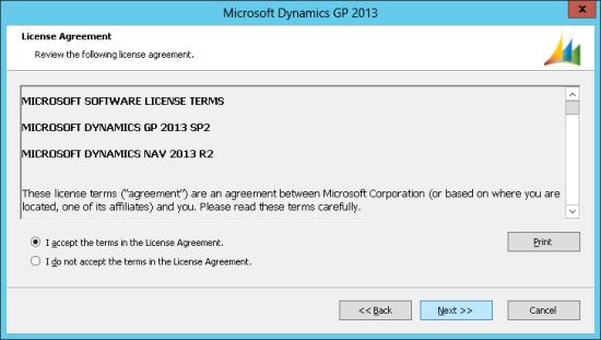 Microsoft Dynamics GP 2013 - License Agreement