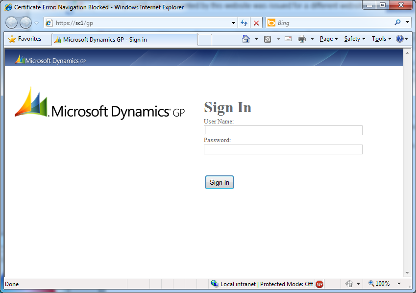 Microsoft Dynamics GP 2013 SP2 Web Client Scale-Out