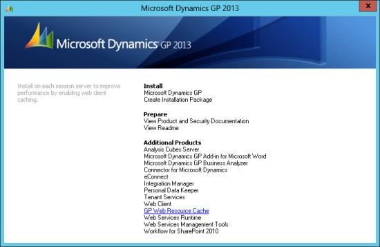 Microsoft Dynamics GP 2013