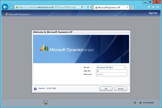 Microsoft Dynamics GP Web Client - Microsoft Dynamics GP Web Client - Welcome to Microsoft Dynamics GP