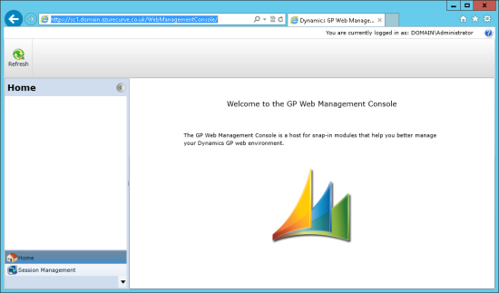 Welcome to the GP Web Management Console
