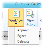 Workflow button