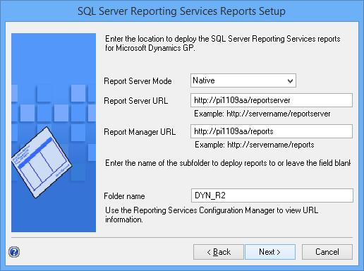 SQL Server Reporting Services Setup