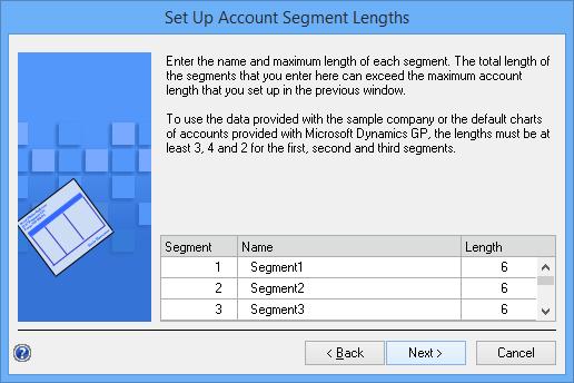 Set Up Account Segment Lengths