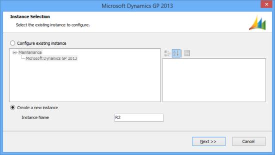 Microsoft Dynamics GP 2013 - Instance Selection