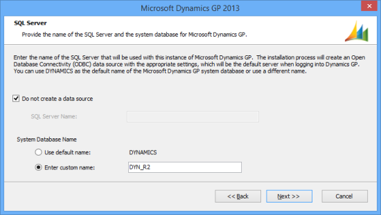 Microsoft Dynamics GP 2013 - SQL Server