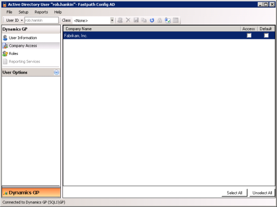 "Active Directory User ""iang"" - Fastpath Config AD - Company Access"