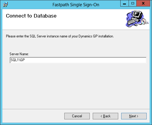 Fastpath Single Sign-On: COnnect to Database