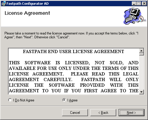 Fastpath Configurator AD - License Agreement