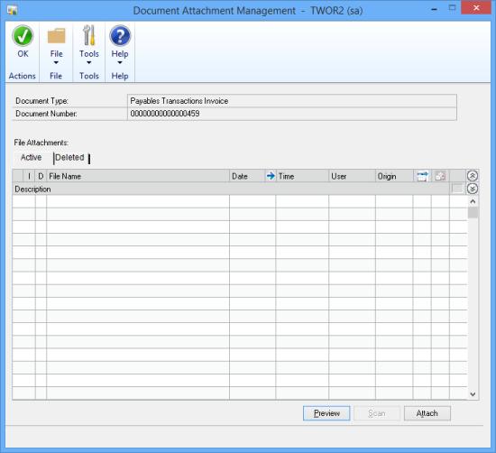 Document Attachment Management